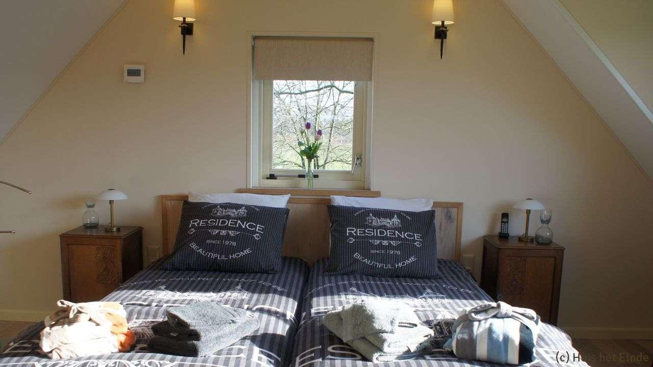 Huis het Einde Bed & Breakfast slaapkamer